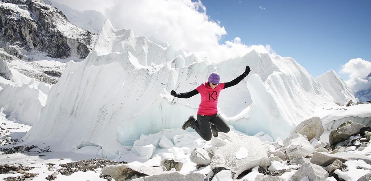 Everest Base Camp w pobliżu Icefall