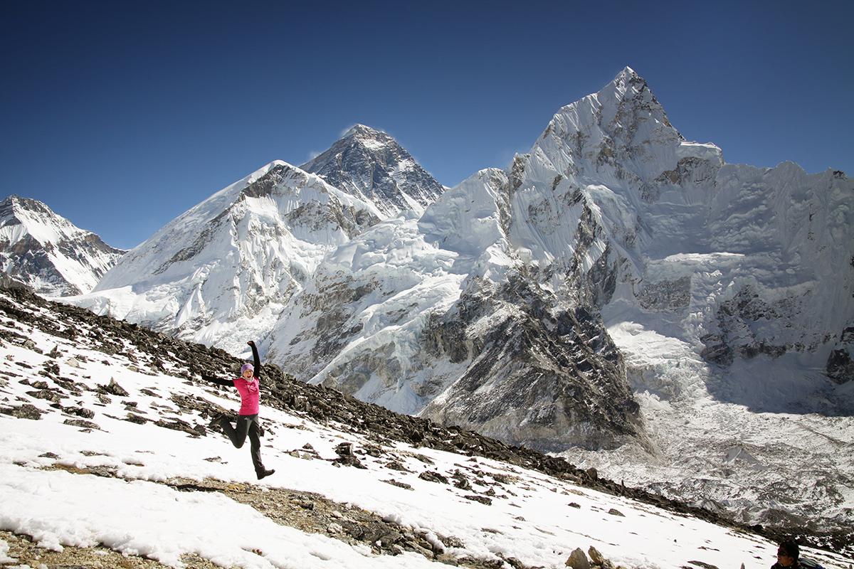 Pod Kalapatar z widokiem na Everest i Nuptse 2